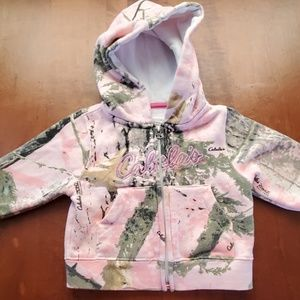 Cabela's pink camouflage infant sweater